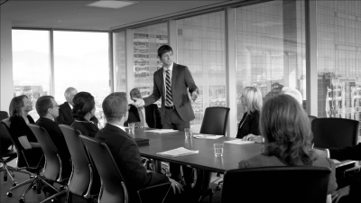 Consultant Presenting Solutions to Clients
